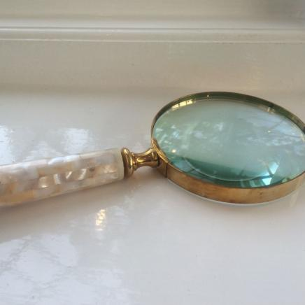 Photo of Large Magnifying Glass with Pearl Handle