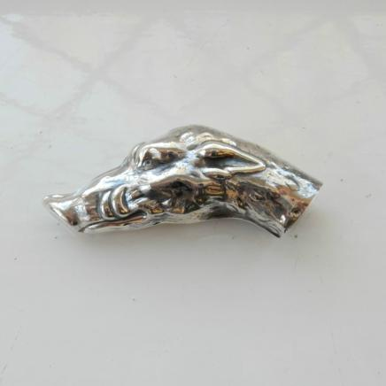 Photo of Solid Silver Wild Boar Cane Handle