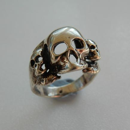 Photo of Sterling Silver Gothic Skull Ring