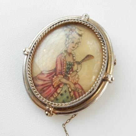 Photo of Antique Portrait Brooch