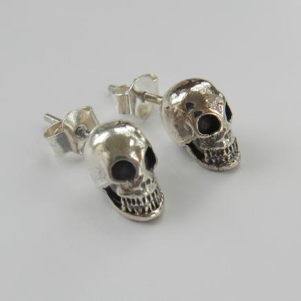Photo of Sterling Silver Skull Earrings