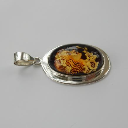 Photo of Reverse Carved Intaglio Lady Pendant
