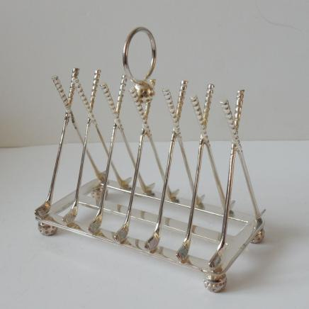 Photo of Silver-Plated Golf Club Rack