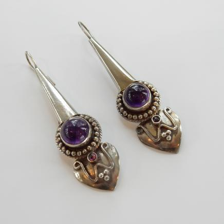 Photo of Vintage Solid Silver Earrings