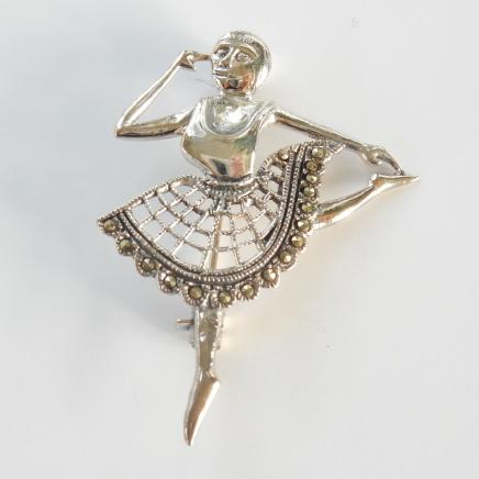 Photo of Vintage Silver Ballerina Brooch
