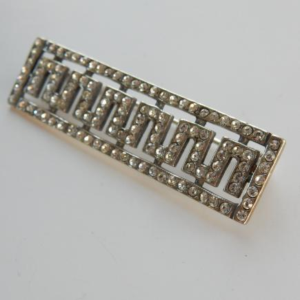 Photo of Art Deco Solid Silver Brooch