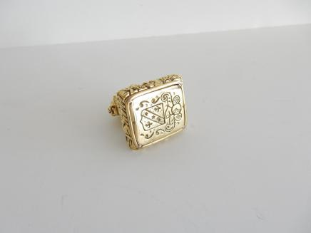Photo of Gold Plated Lion Signet Seal