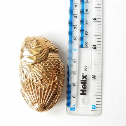 Photo of 18 Carat Gold Plated Fish Vesta Match Safe