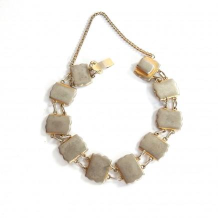 Photo of Antique Damascene Japanese Gold K24 Inlay Bracelet