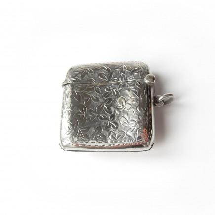 Photo of Antique Sterling Silver Enamel Nude Lady Vesta Match Safe Thomas Bishton
