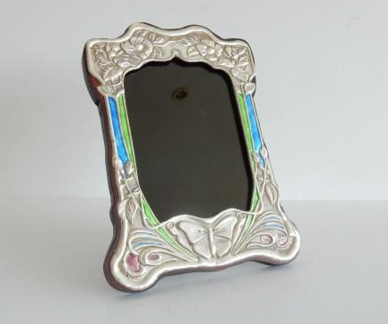 Photo of Art Nouveau Butterfly Silver Photo Frame