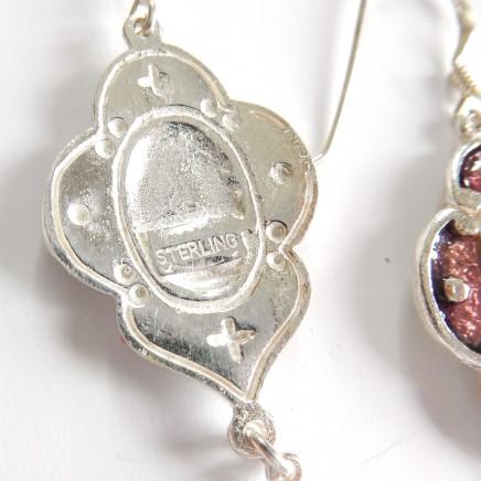 Photo of Arts & Crafts Enamel Earrings Sterling Silver