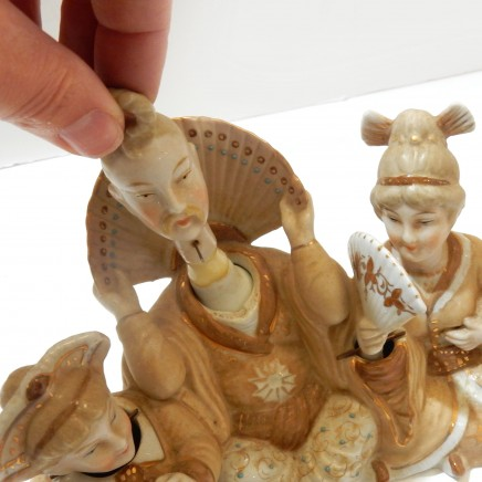 Photo of German Bisque Porcelain Japanese Nodding Head Articulated Figurine