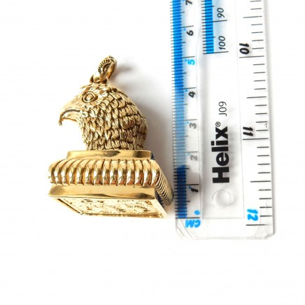 Photo of Gold Plated American Eagle Signet Seal Wax Stamp Coat of Arms Lion