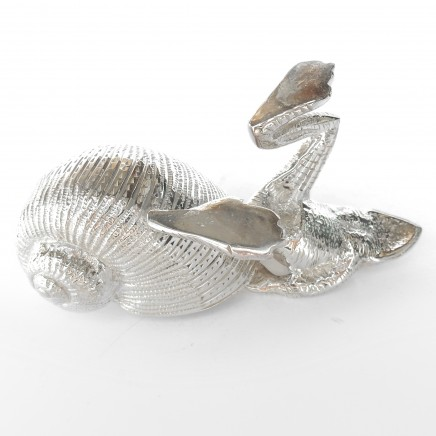 Photo of Novelty Silverplated Frog with Seashell Table Salt Cellar