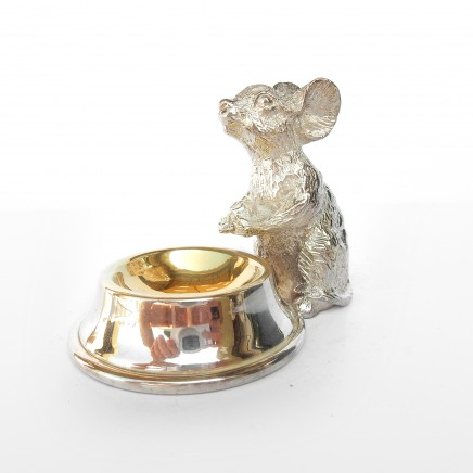 Photo of Novelty Silverplated Mouse Salt Cellar