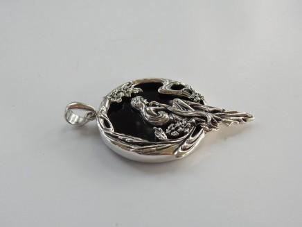 Photo of Onyx Art Nouveau Fairy Pendant