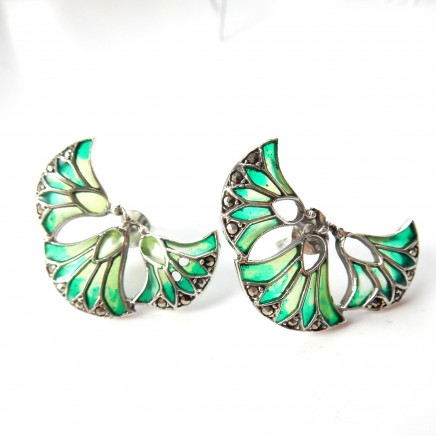 Earrings: Art Nouveau, Art Deco, Plique a Jour Enamel & More/ Milly's Marvels