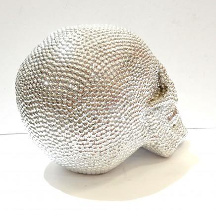 Photo of Silver Diamante Human Skull