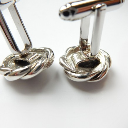 Photo of Silver Ruby Celtic Knot Cufflinks Sterling Silver