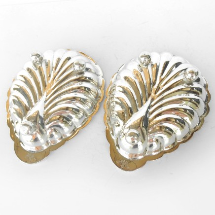 Photo of Silverplated Seashell Butter Dish Trinket Dish with Glass Liner