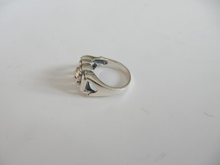 Photo of Solid Silver Gothic Skull Ring