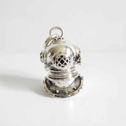 Photo of Sterling Silver Divers Helmet Charm Pendant