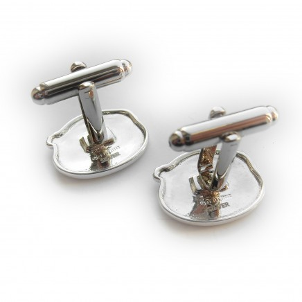 Photo of Sterling Silver Golf Player Golfer Cufflinks