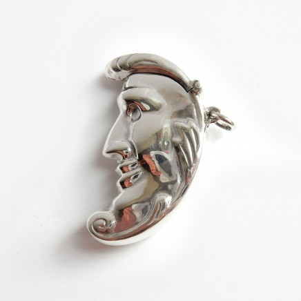 Photo of Sterling Silver Moon Face Moon Crescent Vesta