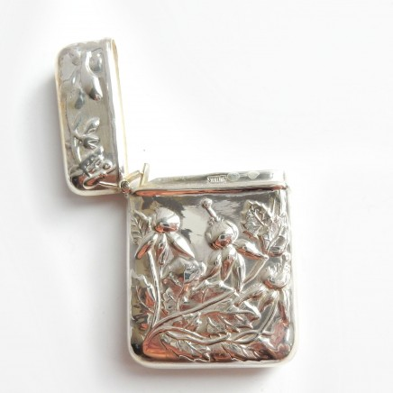 Photo of Sterling Silver Repousse Flower Vesta