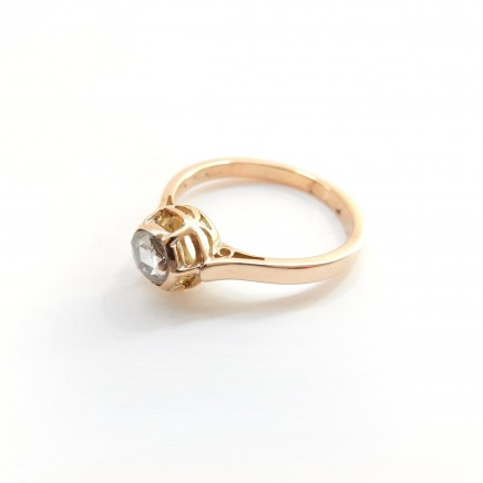 Photo of Vintage 18 Carat Gold Rose Cut Diamond Solataire Ring