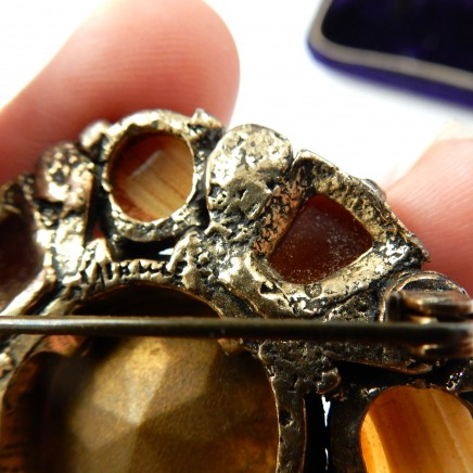 Photo of Vintage Banded Agate Scottish Miracle Brooch