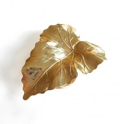 Photo of Vintage Gold Leaf Scarf Clip Pin Brooch