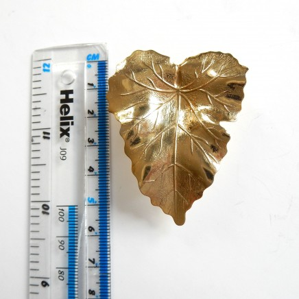 Photo of Vintage Gold Leaf Scarf Clip Pin Brooch