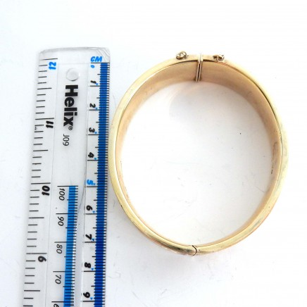 Photo of Vintage Gold on Solid Silver Bangle Bracelet