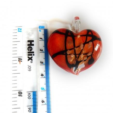 Photo of Vintage Italian Glass Heart Pendant