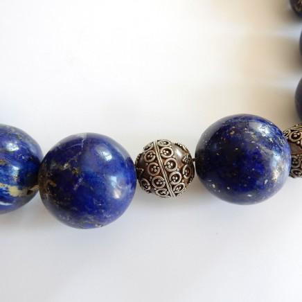 Photo of Vintage Lapis Lapis Lazuli Beaded Necklace Bracelet