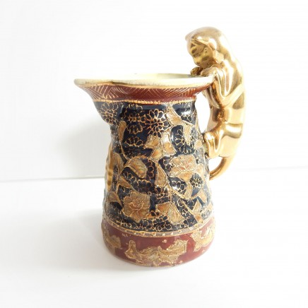 Photo of Vintage Porcelain Japanese Satsuma Feline Cat Creamer Jug