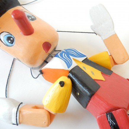 Photo of Wooden Hand Made Pinocchio Puppet Marionette