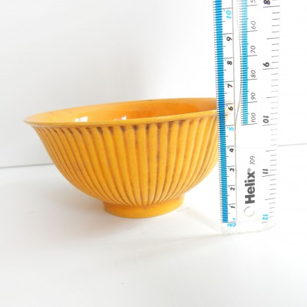 Photo of Yellow Crackle Glazed Porcelain Chinese Bowl