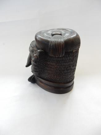 Photo of Hand Carved Black Forest Wood Tobacco Jar