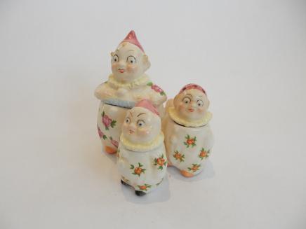 Photo of German Porcelain Clown Cruet Set