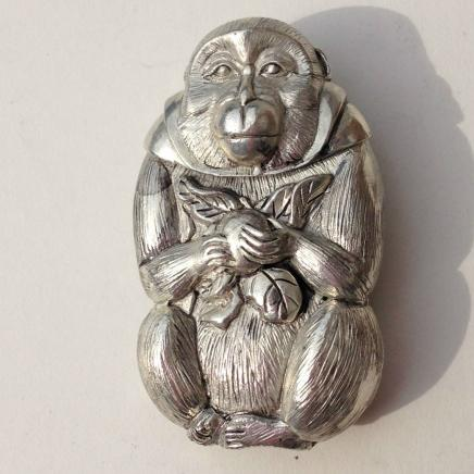 Photo of Oriental Silver Plate Monkey Vesta