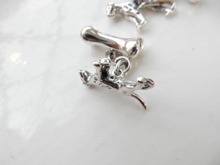 Photo of Pair Solid Silver Dog & Bone Cufflinks