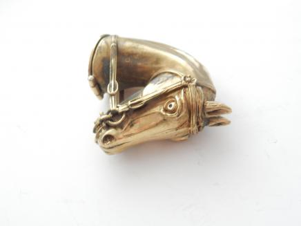 Photo of Polished Brass Horse Head Vesta
