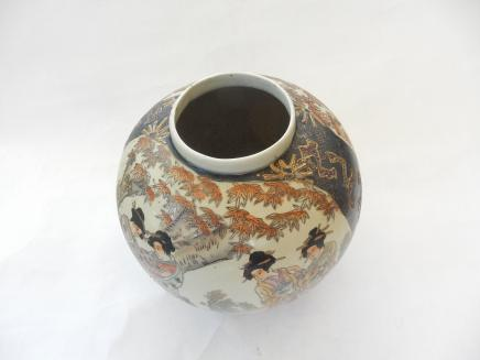 Photo of Satsuma Porcelain Bulbous Vase
