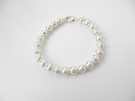 Photo of Swarovski Crystal & Pearl Bracelet