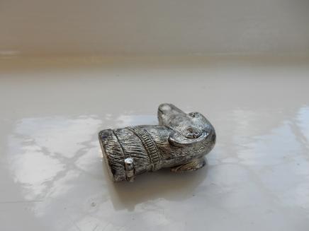 Photo of Silver-Plate Dog Head Vesta