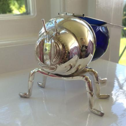 Photo of Silver Plate Honey Bee Jar