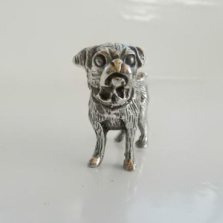 Photo of Silver Pug Dog Charm